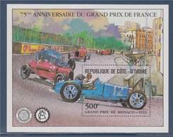 = Bloc Neuf 75ème Anniversaire Du Grand Prix De France Grand Prix De Monaco 1933, - Automobilismo