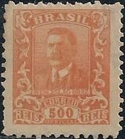 BRAZIL - OFFICIAL: WENCESLAU BRAZ (500 RÉIS, ORANGE) 1919 - MH - Officials