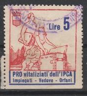 Erinofilo. Pro Vitalizi Dell' IPCA L. 5 - Italia