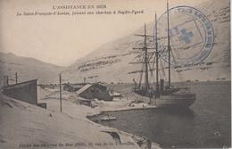 CPA L'assistance En Mer - Le Saint-François-d'Assise Faisant Son Charbon à Seydic-Fyord (cachet Oeuvres De Mer) - Pêche