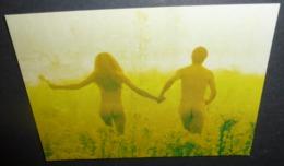 Carte Postale - Virgin Net (couple Nu Dans Un Champ De Fleurs) - Publicité