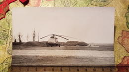 Soviet Military Helicopter In Afghanistan  - Old Original Photo  - USSR Army - 1980s - Aviation