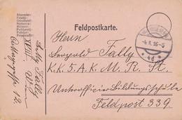 Feldpostkarte Wien Nach K.k. 5. A.K.M.R.St. Feldpost 339 - 1916 (38786) - 1850-1918 Imperium