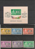 TOGO Année 1962  N° Y/T: 365/70**et Bloc N° 8** Côte: 12,90 € - Togo (1960-...)