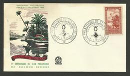 Enveloppe Illustrée / Anniversaire Club Philatélique De COLOMB BECHAR 1958 - Storia Postale