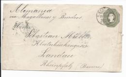 Chile U 8 - 20 Ctv  Columbus Umschlag V. Santiago N. Landau Bedarfsverwendet - Chili