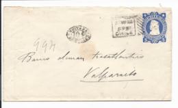 Chile U 15 - 5 Ctv  Columbus Umschlag Von Santiago Nach Valparaiso Bedarfsverwendet - Chile
