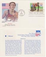 ATHLETICS DIE LEICHTATHLETIK ATHLÉTISME OLYMPIC  GAMES USA 1979 JIM HINES SPRINTING FDC CARD - Athletics