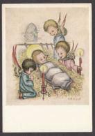 98358/ NOEL, Petits Anges Veillant L'enfant Jésus, Illustrateur Arnulf, APBP - Natale