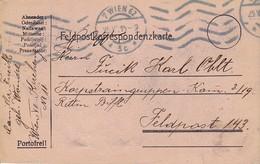 Feldpostkarte Wien Nach Korpstraingruppen Komp 3/19 - Feldpost 143 - 1915 (38787) - 1850-1918 Imperium