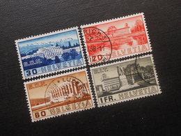 CH ZNr.211-214 Satz - Gebäude - 1938 - Z Kat.CHF 34.00 - Suisse