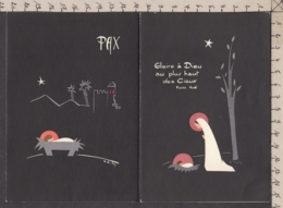 98407GF/ NOEL, 2 Cartes, Nativité, Illustrations Signées - Natale
