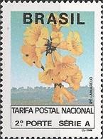 BRAZIL - DEFINITIVES GOLDEN TRUMPET TREE (FOSFORESCENT PAPER) 1992 - MNH - Brazil