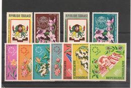 TOGO Année 1967 Fleurs  N° Y/T: 536/37**et P.A. N° 71/74** Côte: 13,50 € - Togo (1960-...)