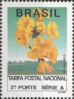 BRAZIL - DEFINITIVES GOLDEN TRUMPET TREE (NORMAL PAPER) 1992 - MNH - Brazil