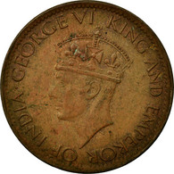 Monnaie, Ceylon, George VI, Cent, 1943, TTB, Bronze, KM:111a - Sri Lanka