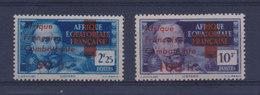 """AEF France Libre 1943 - Timbres De 1937/39 Surchargés """"Afrique Combattante + """" YT 165/166 Sans Charnière ** MNH - A.E.F. (1936-1958)"""