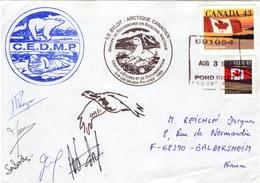 CANADA 1298 1299 Lettre Signée GREA C.E.M.D.P. Mission ILE BYLOT Arctique Canadien 1993 Polar Pôle - 1952-.... Elizabeth II