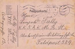 Feldpostkarte Wien Nach K.k. 5. A.K.M.R.St Feldpost 339 - 1916 (38789) - 1850-1918 Imperium
