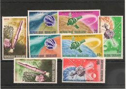 TOGO ESPACE Année 1967 N° Y/T: 525/530** Et P.A. N° 67/68** - Togo (1960-...)