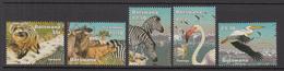 2002 Botswana Wetlands Wildlife Zebras Birds Flamingo Pelican  Complete Set Of 5 MNH - Botswana (1966-...)