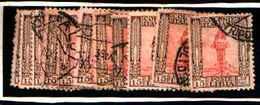 90259) LIBIA- 15C.-Serie Pittorica, Senza Filigrana, Dentellati 11 - 1926-USATO DENT 11 UN PEZZO - Libia