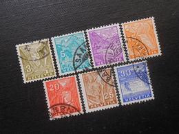 CH ZNr.194-200 Satz -   Landschaftsbilder - 1934 - Z CHF 25.00 - Schöne Stempel - Suisse