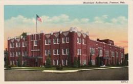 Nebraska Fremont Municipal Auditorium Curteich - Fremont