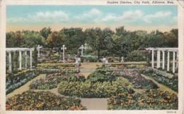 Nebraska Alliance City Park Sunken Garden Curteich - United States