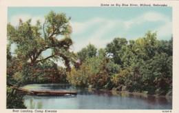Nebraska Milford Scene On Big Blue River Boat Landing Camp Kiwanis Curteich - United States