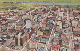 Nebraska Omaha Aerial View Of Business District 1945 - Omaha
