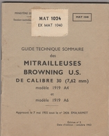 Guide Technique Sommaire Des Mitrailleuse Browning US De Calibre 30 - Other