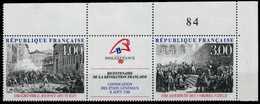 FRANKREICH 1988 Nr 2674 Und ZF 2675 Postfrisch 3ER STR ECKE X88158A - France