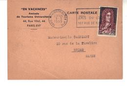 """CPSM  """"EN VACANCES"""" Amicale De Tourisme Universitaire 44, Rue Vital Paris XVIe - Education, Schools And Universities"""