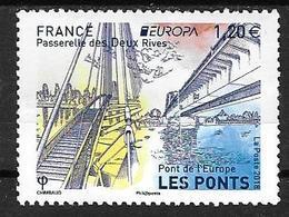 France 2015 Timbre Neuf Europa Ponts à La Faciale + 0,10 Cts - France