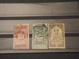 ITALIA REGNO - 1921 DANTE 3 VALORI (lievi Difetti Come D'uso) - TIMBRATI/USED - 1900-44 Vittorio Emanuele III