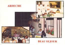 """07 - EMPURANY : Hotel Restaurant """" LE BEAU SEJOUR """" ( M. Mme MINODIER ) - CPSM CPM Grand Format - Ardèche - France"""