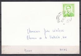 1068 Met Sterstempel Rumillies Op Kaart - 1953-1972 Lunettes