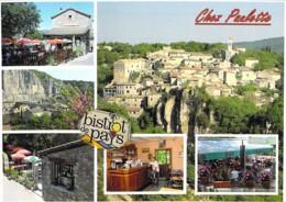 """07 - ALAZUC : Bistrot De Pays """" CHEZ PAULETTE """" - CPSM CPM Grand Format - Ardèche - France"""