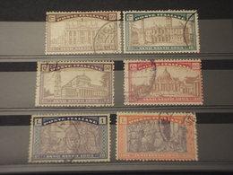ITALIA REGNO - 1924 ANNO SANTO  6 VALORI - TIMBRATI/USED - 1900-44 Vittorio Emanuele III
