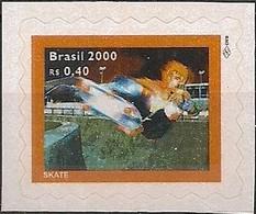 BRAZIL - DEFINITIVES: SPORTS (SKATEBOARD, SELF-ADHESIVE) 2000 - MNH - Skateboard
