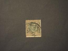 ITALIA REGNO - 1910 FLOREALE L. 10 - TIMBRATI/USED - 1900-44 Vittorio Emanuele III