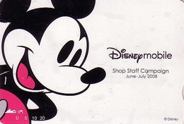 Carte Prépayée Japon - DISNEY Mobile - MICKEY MOUSE  - Japan Prepaid Card Quo Karte - Disney