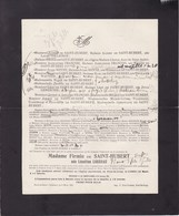 THUILLIES PONT-de-LOUP Léontine LOSSEAU épouse Firmin De SAINT-HUBERT 1848-1923 Familles COLLIGNON LEMERCIER - Overlijden