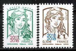 Paire  Ciappa Lettre Verte + 0,10euro  Surchargée  2013/2018 Neuf ** - France