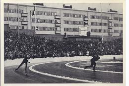 Wz-hoki-180 -  Sammelbild Olympia 1952 - Saarland -  Haugli Norw. Und Vorweg Holwel (GB) Kurvenduell Im Eisschnellauf - Sports