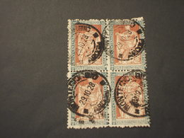ITALIA REGNO - 1928 RE 30 C., Dentellato 11, In Quartina(block Of Four) - TIMBRATI/USED (assai Pregiato) - 1900-44 Vittorio Emanuele III