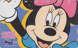Carte Prépayée Japon - DISNEY Enterprises - MINNIE En Gros Plan - Japan Prepaid Tosho Card - Disney