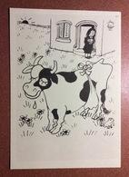 Vintage Russian Postcard 1962 Hanja Tartuffe. Cow Udder In The Case! Surprised Frog. - Illustrators & Photographers