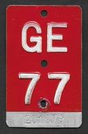 Velonummer Genf Genève GE 77 - Plaques D'immatriculation